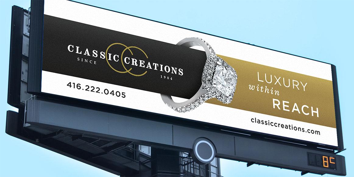 Classic Creations Billboard ad