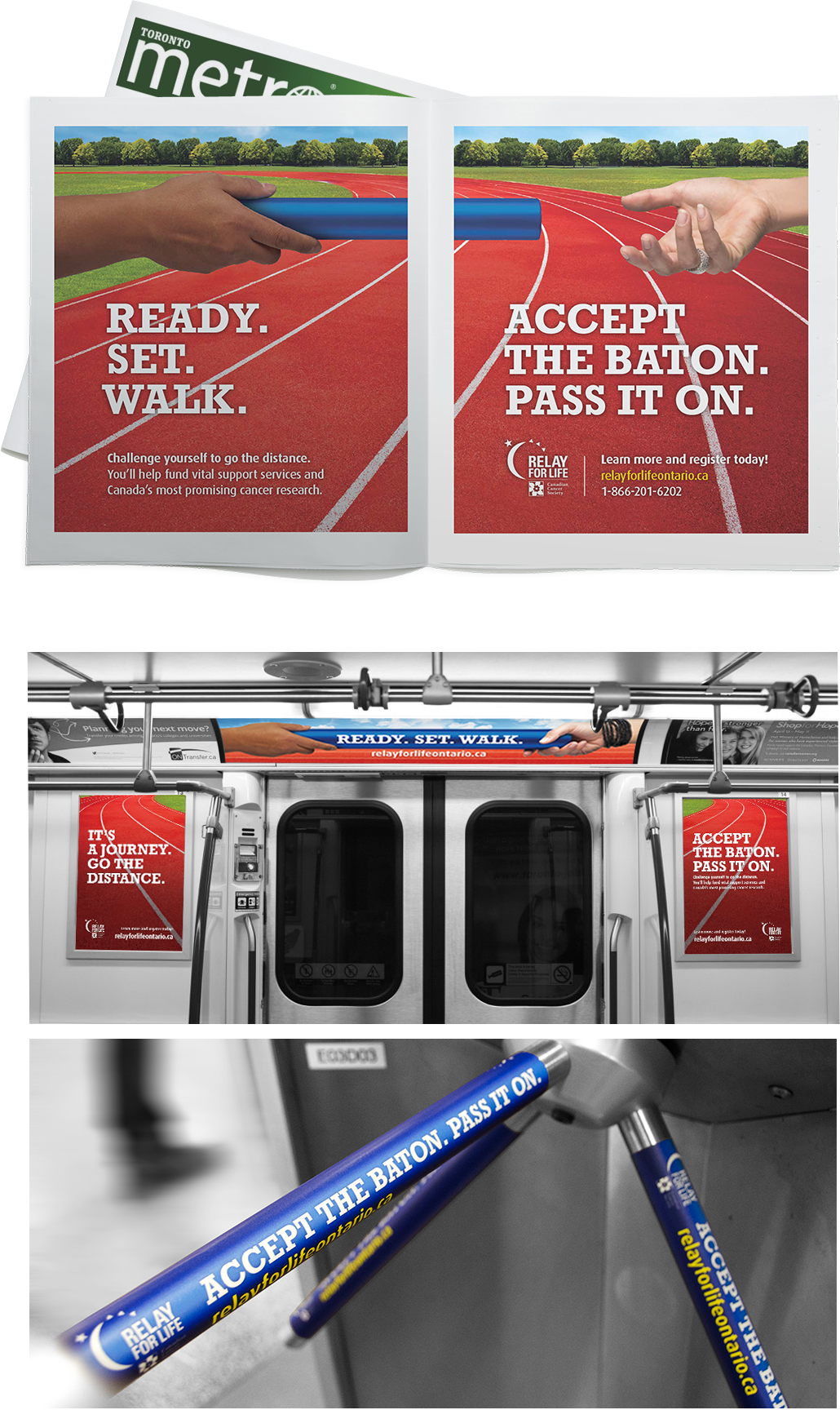 Canadian Cancer Society - Metro newspaper print, subway banners